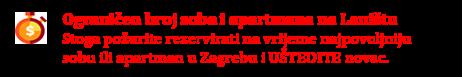 Noćenje u Zagrebu Lanište - nudimo sobe i apartmane
